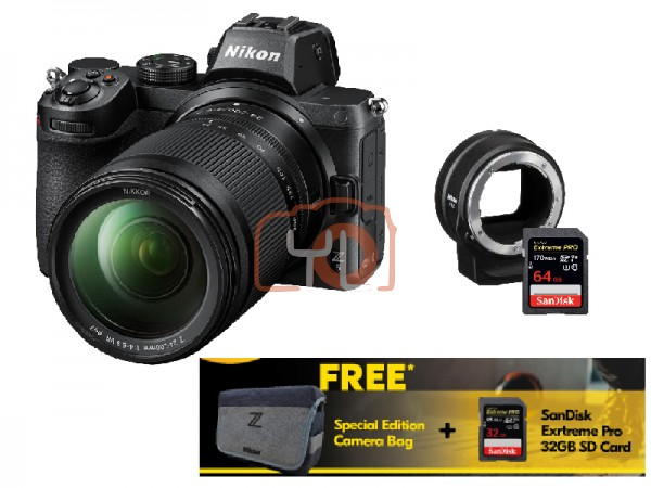 Nikon Z5 Full Frame Mirrorless Camera + Z 24-200mm f/4-6.3 VR W/ FTZ Adapter [Free 32GB SD Card + Camera Bag]