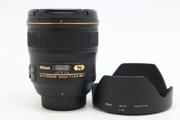[USED-PUDU] NIKON 24MM F1.4G AF-S N ED 95%LIKE NEW CONDITION  SN:203122