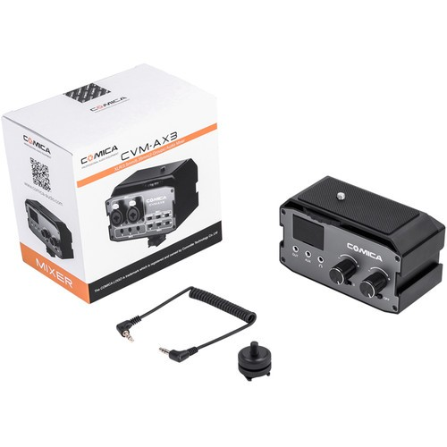 (PRE-ORDER) Comica Audio CVM-AX3 Dual-Channel Audio Mixer for DSLRs
