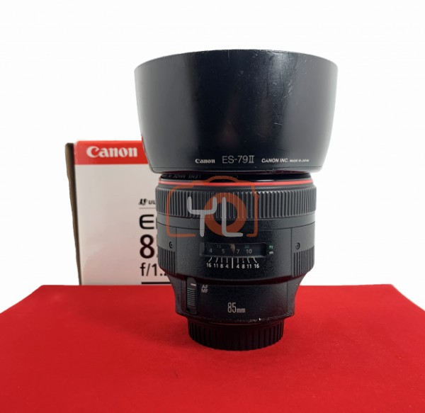 [USED-PJ33] Canon 85mm F1.2 L II USM EF (Rubber Sticky-Sell Cheap), 85% Like New Condition (S/N:57954)