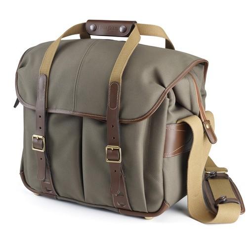 (Promotion) Billingham 307L Camera and Laptop Shoulder Bag (Sage FibreNyte & Chocolate Leather)