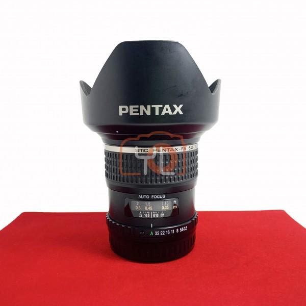 [USED-PJ33] Pentax 35MM F3.5 D AL FA 654, 95% Like New Condition (S/N:4240724)