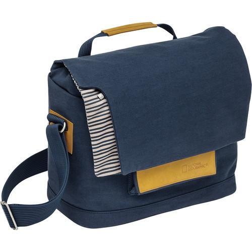 National Geographic MC 2450 Mediterranean Series Medium Messenger Bag (Blue and Ochre)