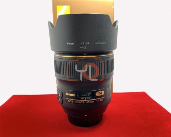 [USED-PJ33] Nikon 35mm F1.4 G AFS, 95% Like New Condition (S/N:203627)
