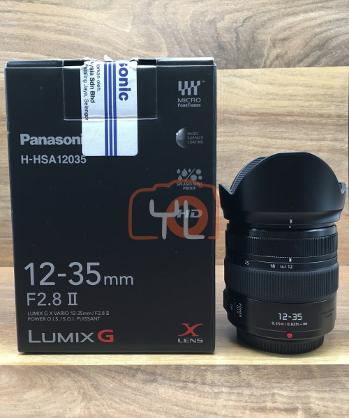 [USED @ YL LOW YAT]-Panasonic 12-35mm F/2.8 II Lumix G X Vario Power O.I.S. Lens,95% Condition Like New,S/N:XT9GC102727