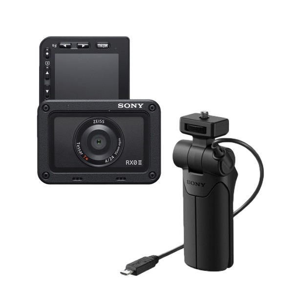 Sony RX0 Mark II Ultra Compact Camera + VCT-SGR1 Shooting Grip Kit [Free 32GB MicroSD Card + RX Travel Premiums)
