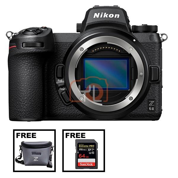 Nikon Z 6 II (Free Camera Bag + SanDisk 64GB ExtremePro SD Card)