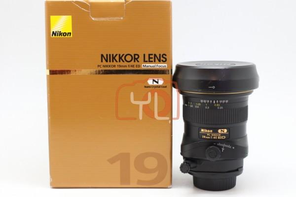 [USED-PUDU] Nikon PC 19mm F4E ED Tilt-Shift Lens 95% Condition Like New, SN:201368