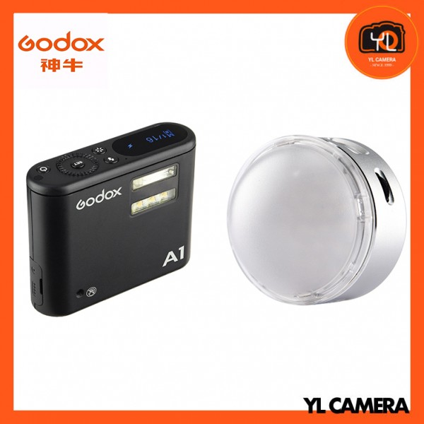 Godox A1 Wireless Flash With R1 Round RGB Mini Creative Light Combo Set