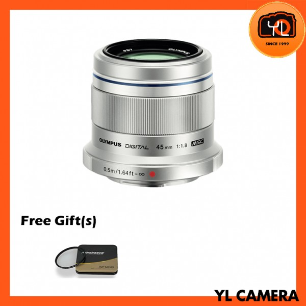 Olympus 45mm F1.8 M.Zuiko (Silver) With Athabasca 37mm UV Filter