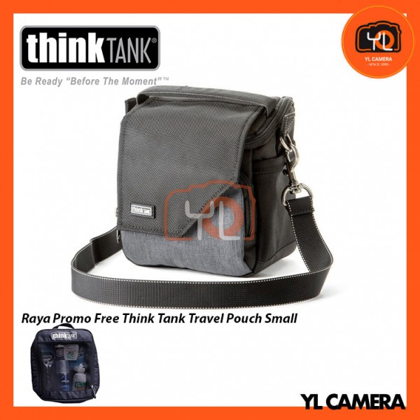 Think Tank Photo Mirrorless Mover 10 Camera Bag (Black/Charcoal) Free Think Tank Photo Travel Pouch - Small