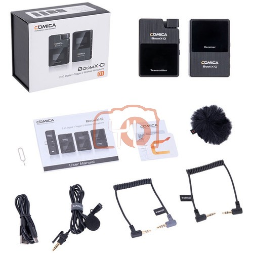 Comica Audio BoomX-D D1 Ultracompact Digital Wireless Microphone System for Mirrorless/DSLR Cameras (2.4 GHz)