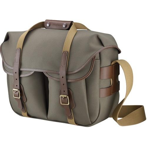 (SPECIAL DEAL) Billingham Hadley Large Pro Shoulder Bag (Sage FibreNyte & Chocolate Leather)