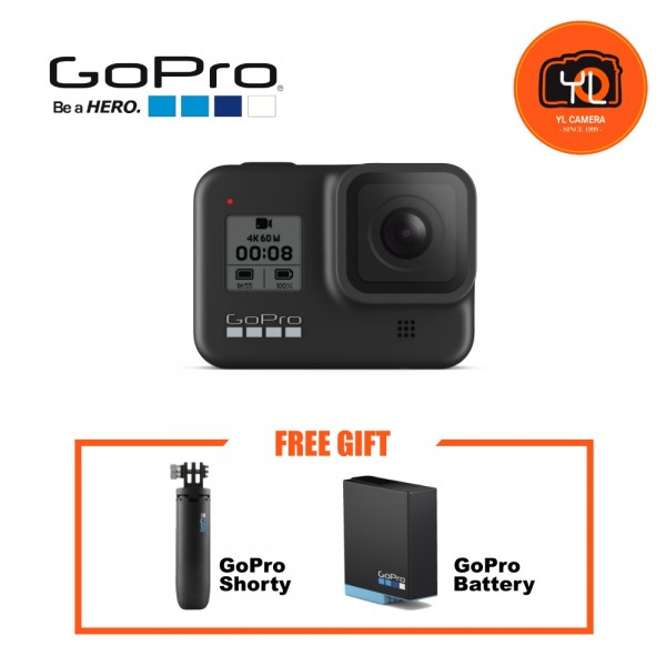 GoPro HERO8 Black - Shorty & Battery Kit