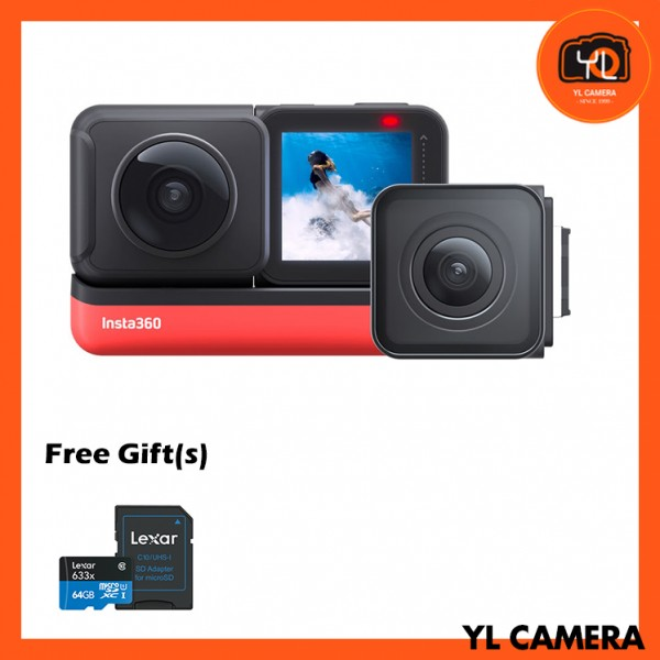 (Promotion) Insta360 ONE R Twin Edition (Free 64GB microSD Card)