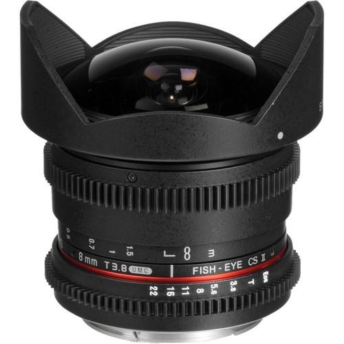 Samyang 8mm T3.8 Cine UMC Fisheye CS II Lens for Canon M-Mount