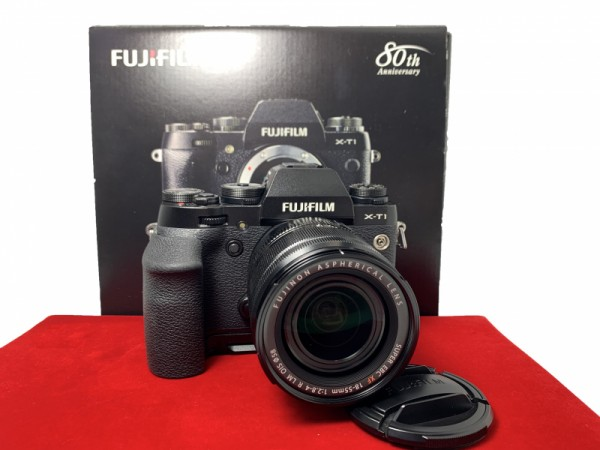 [USED-PJ33] Fujifilm X-T1 With 18-55MM F2.8-4 R XF LM OIS + MHG-XT Grip, 85% Like New Condition (S/N:42M01703)