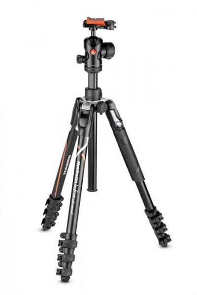 Manfrotto MKBFRLA-BH Befree Advanced Travel Aluminum Tripod with 494 Ball Head (Lever Locks, Sony Alpha Edition)