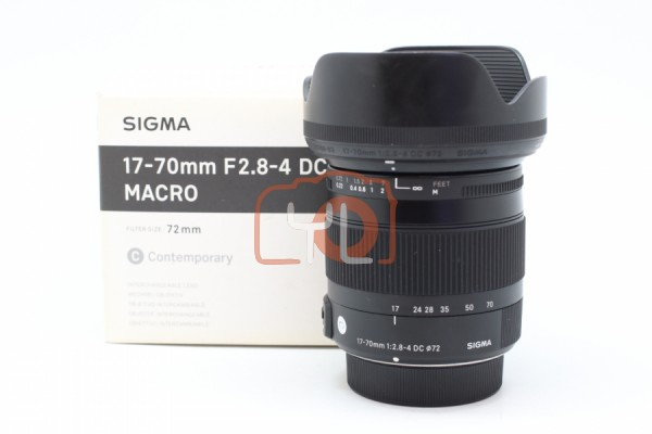 [USED-PUDU] Sigma 17-70mm F2.8-4 DC Macro OS HSM Contemporary Lens For Nikon 95%LIKE NEW CONDITION SN:51051467