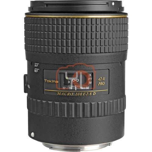 Tokina 100mm f/2.8 AT-X M100 AF Pro D Macro Autofocus Lens for Canon EF
