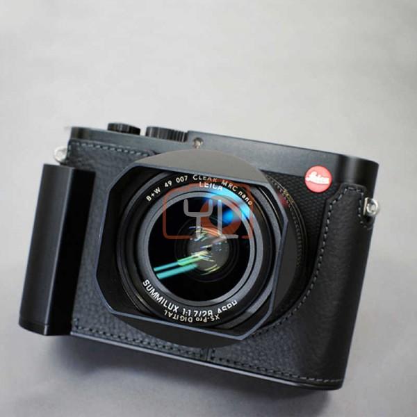 CAM-IN Leica Q2 Genuine Leather Half Case Black