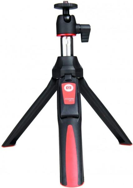 MeFoto MK10 2-in-1 Portable Selfie Stick with Mini Tripod (RED)