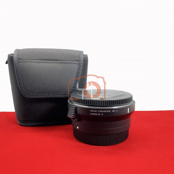 [USED-PJ33] Sigma MC-11 Lens Adapter (Canon EF To Sony E-Mount), 90% Like New Condition (S/N:51765101)