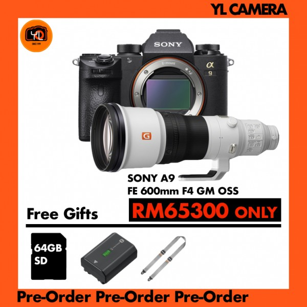 (Pre-Order) Sony a9 + FE 600mm F4 GM OSS [Free Sony 64GB SD Card]