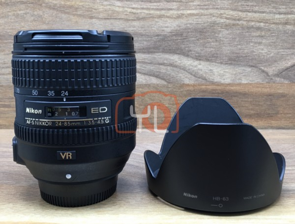 [USED @ YL LOW YAT]-Nikon AF-S 24-85mm F3.5-4.5 G ED VR Lens,90% Condition Like New,S/N:2118786