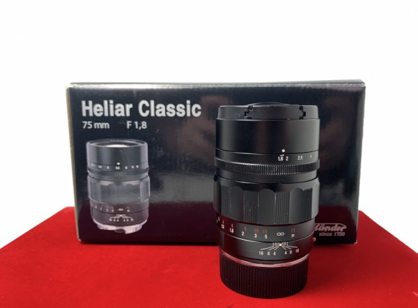 [USED-PJ33] Voigtlander 75MM F1.8 Heliar Classic VM (Leica M), 90% Like New Condition (S/N:8330417)