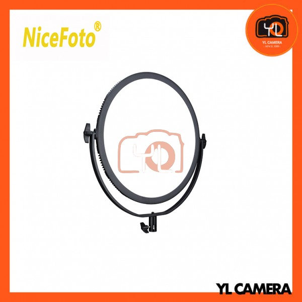 NiceFoto SL-360ARC Ultra Soft Bi-color Round LED Panel Light with U Type Bracket 2.4G Remote Control
