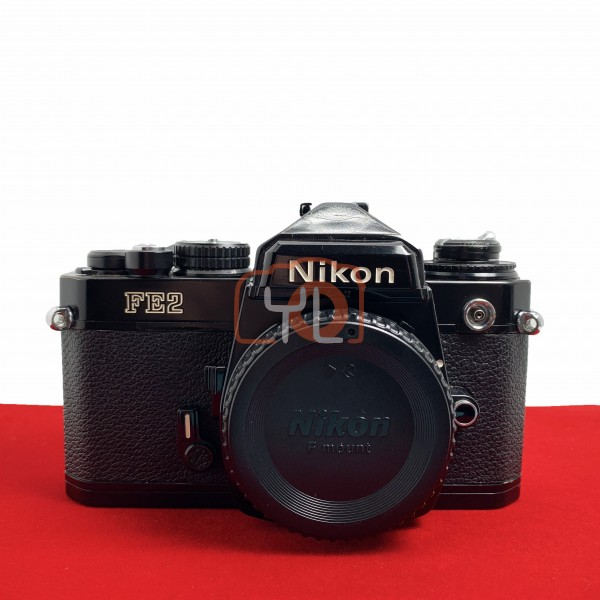 [USED-PJ33] Nikon FE 2 Film Camera (Black), 85% Like New Condition (S/N:2194583)
