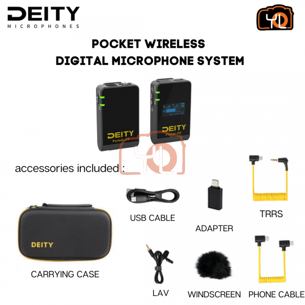 Deity Microphones Pocket Wireless Digital Microphone System for Cameras and Smartphones (2.4 GHz, Black)