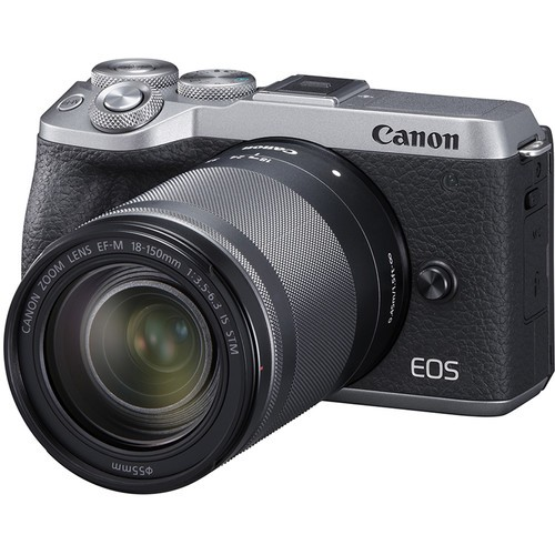 Canon EOS M6 Mark II + EF-M 18-150mm F3.5-6.3 IS STM - Silver (Free 32GB SD Card + Camera Bag)