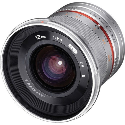 (SPECIAL PRICE) Samyang 12mm F2.0 NCS CS Lens for Sony E-Mount (Silver)