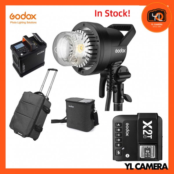 Godox AD1200Pro Battery Powered Flash System With Godox X2 2.4 GHz TTL Wireless Flash Trigger for Canon Combo Set