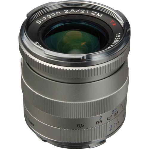 ZEISS Biogon T* 21mm f/2.8 ZM Lens (Silver)