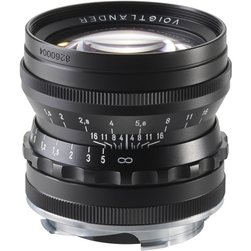 Voigtlander 50mm F1.5 Nokton Aspherical Lens - Black (For Leica M-Mount)