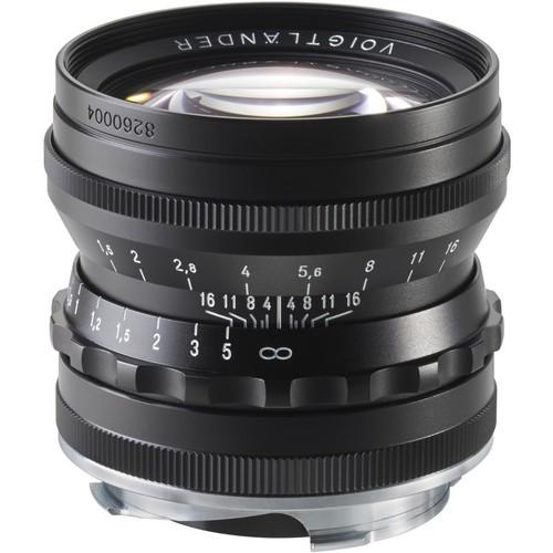 Voigtlander Nokton 50mm F1.5 Aspherical Lens (Black)