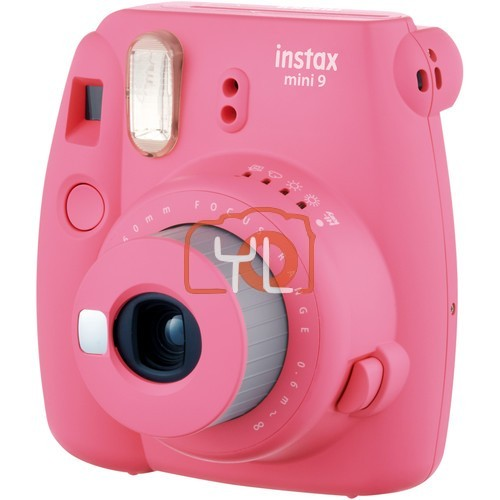 FUJIFILM INSTAX Mini 9 Instant Film Camera (Flamingo Pink) + Single Pack