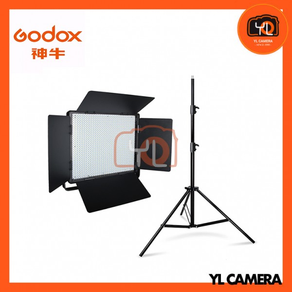 Godox LED1000Bi II Bi-Color DMX LED 1 Light Stand Kit