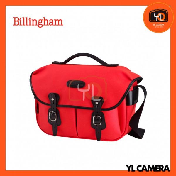 Billingham Hadley Pro Shoulder Bag (Neon Red Canvas & Black Leather)