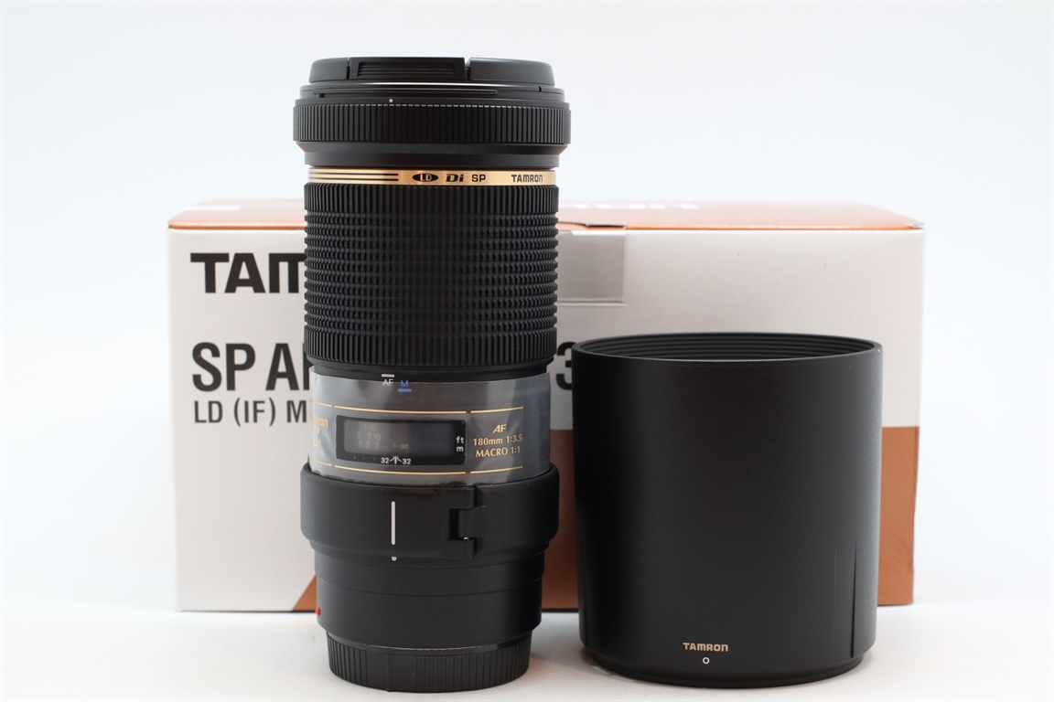 [USED-PUDU] TAMRON 180MM F3.5 Di MACRO 1:1  LD LENS For CANON 99.9%LIKE NEW CONDITION SN:514411