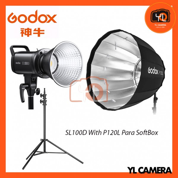 Godox SL100D Daylight With P120L Parabolic Softbox + 280CM Light Stand (1 Light Kit)