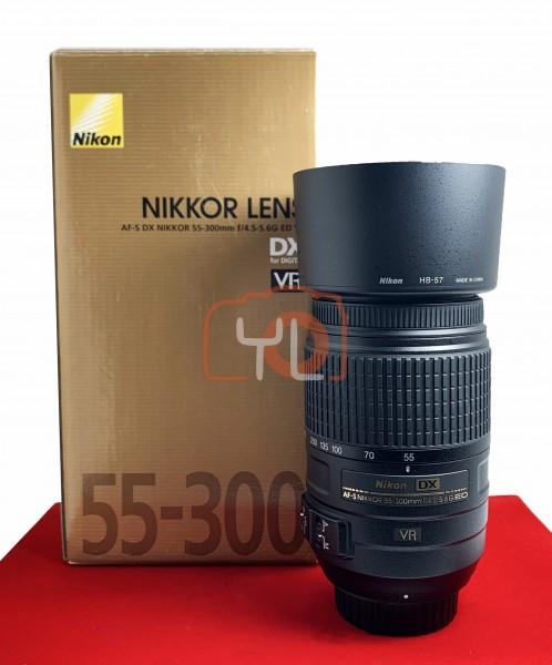 [USED-PJ33] Nikon 55-300mm F4.5-5.6G DX ED VR AFS, 95% Like New Condition (S/N:2127663)
