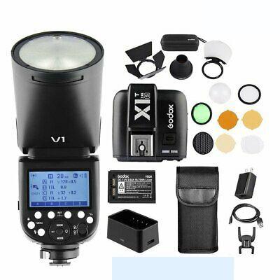 Godox V1S Sony TTL Li-ion Round Head Flash Wiht AK-R1 X1T-S Fro Sony Combo Set