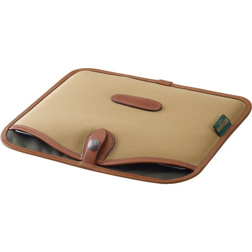 (Promotion) Billingham Tablet Slip (Khaki Canvas & Tan Leather Trim)