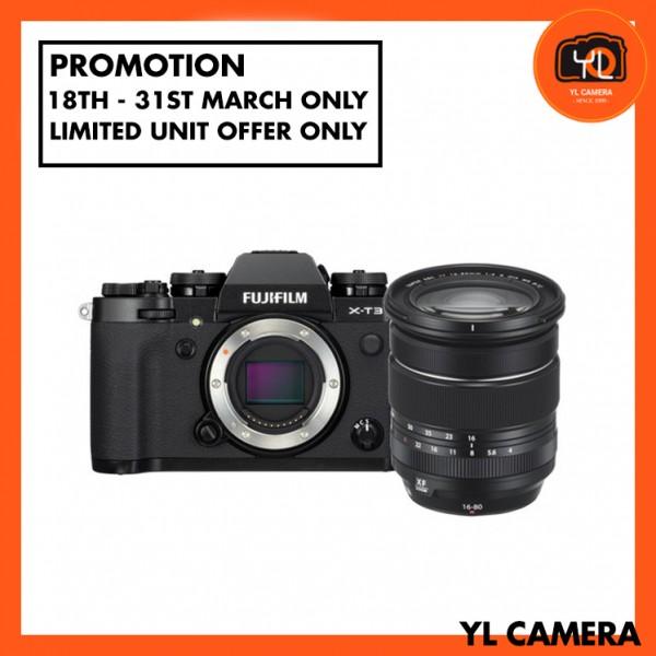 (Promotion) Fujifilm X-T3 + XF 16-80mm F4 R OIS WR - Black [Free 32GB SD Card UHS-II]