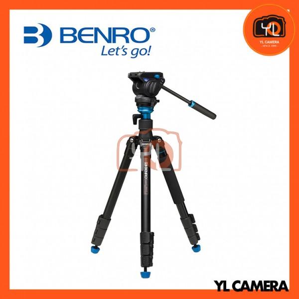 Benro A2883F Reverse-Folding Aluminum Travel Tripod with S4Pro Fluid Video Head