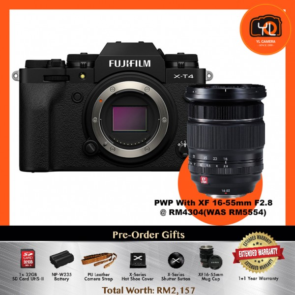 (Pre-Order) Fujifilm X-T4 - Black [With XF 16-55mm F2.8]